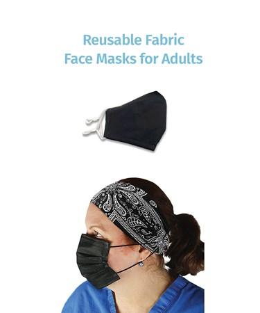 ReusableFabricMaskforAdultsBlack