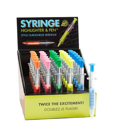 SyringeHighlighterPen5AsstwDisplayer
