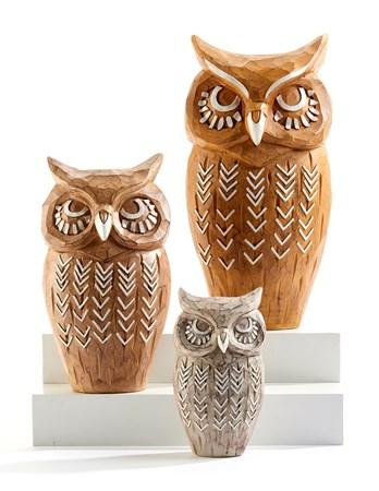 OwlStatuarySetof3