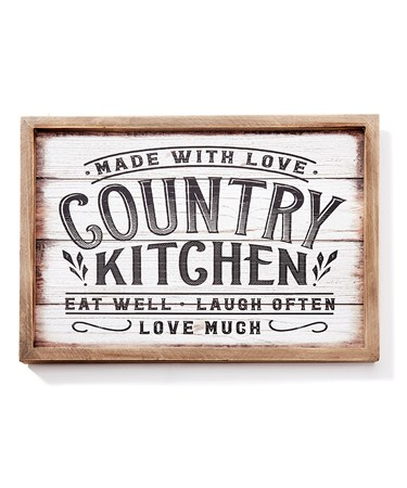 CountryKitchenWallSign