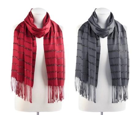 FringedMetallicScarf2Asst
