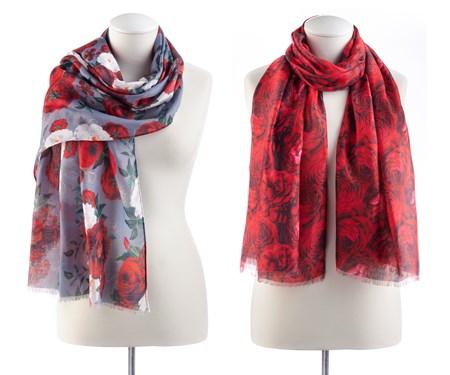 FloralPrintedScarf2Asst