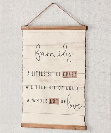 FamilySentimentWallSign