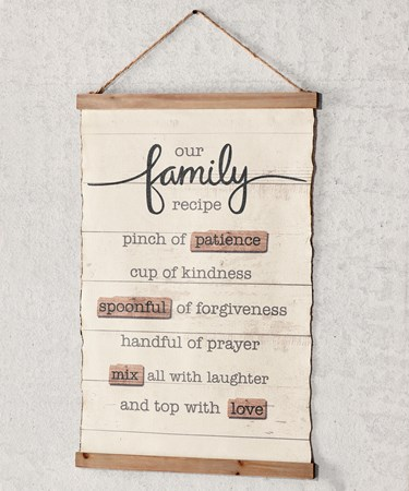 OurFamilySentimentWallSign