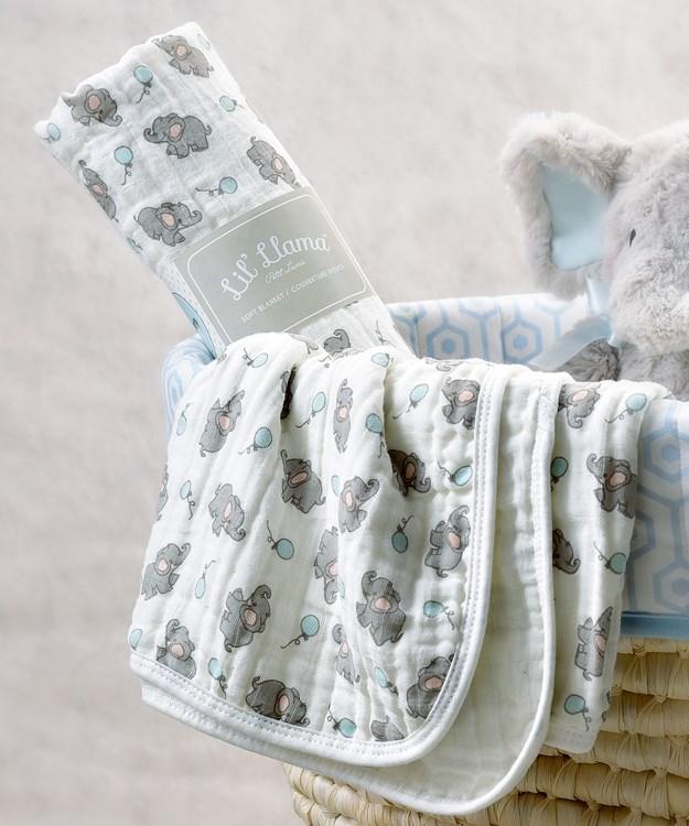 Lil' Elephant Swaddling Blanket