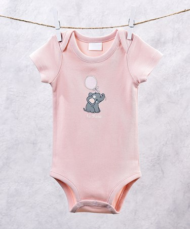 PinkLilElephantDesignOnesieSet4