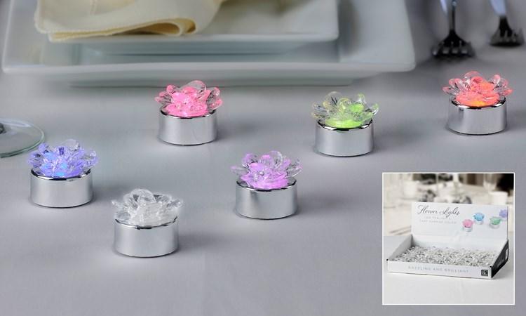 LED Flower Design Tealight w/ Displayer, 24/Pcs.