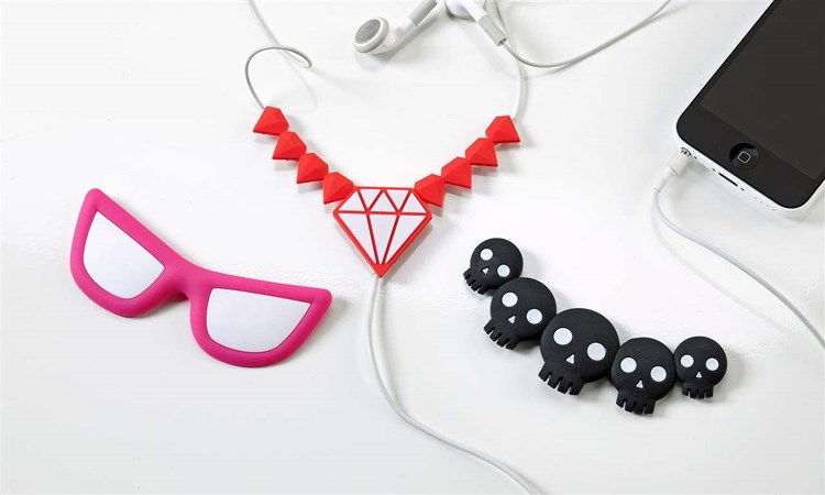 Earphone Cord Fashion Necklace Attachment, 3/Asst.