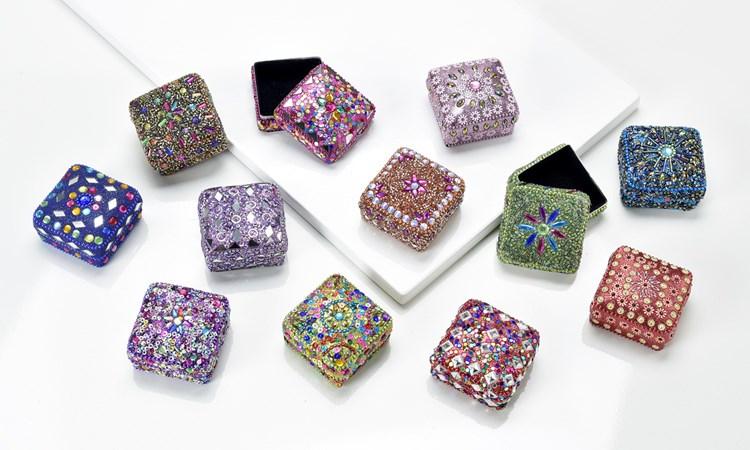 Sequin Design Trinket Box, 12/Asst.