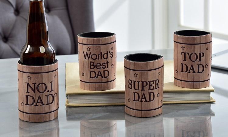 Best Dad Sentiment Beverage Sleeve Asst. w/ Displayer