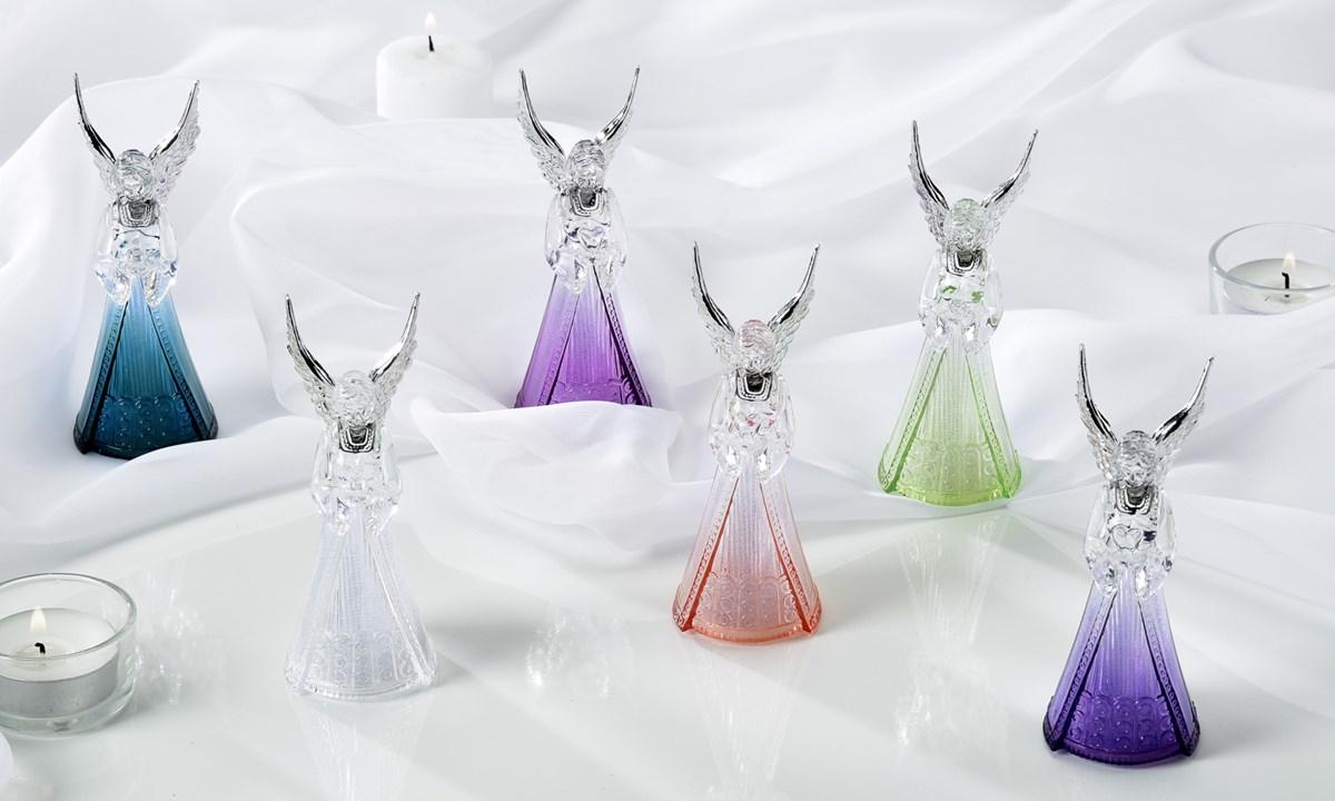LED Lighted Angel Design Figurine, 6/Asst.