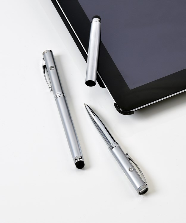 3-in-1 Pen, Light & Stylus Asst. w/ Displayer