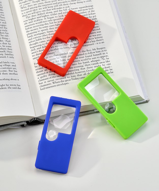 LED Pocket Magnifier, 30 pieces with Displayer