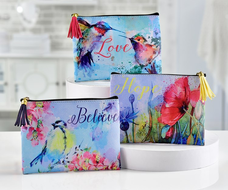 PU Printed Cosmetic Bag, 3/Asst.