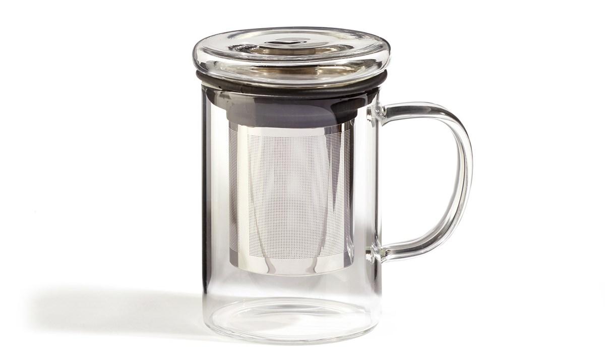 For Tea's Sake Glass Infuser Mug
