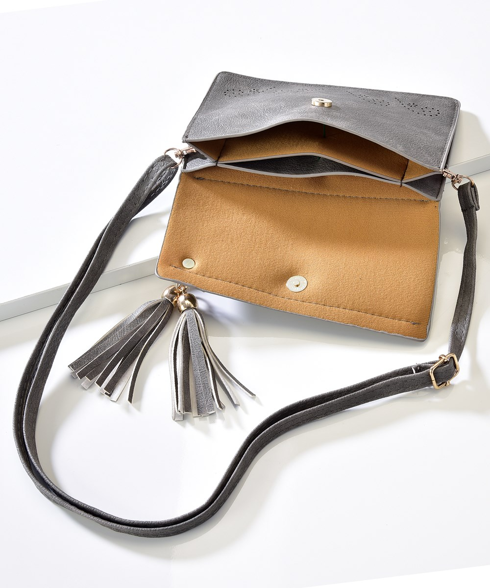 Avenue 9 Glam, Clutch Purse with Tassel Accent, 3 Asst.