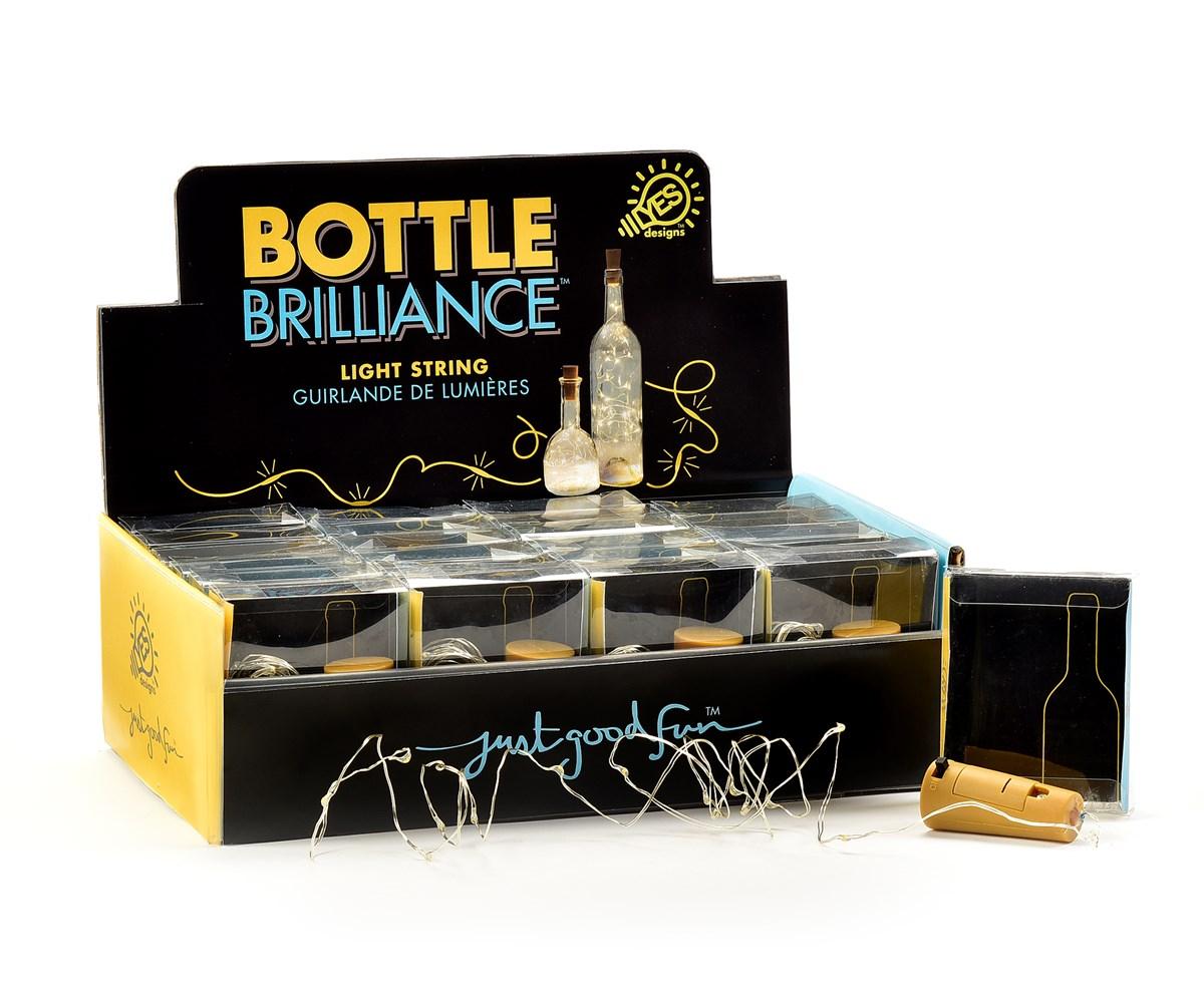 Wine Bottle Design LED Lights w/Displayer