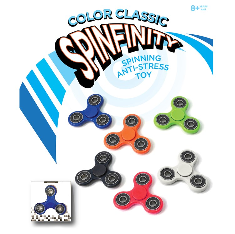 Color Classic Anti-Stress Spinner, 6 Asst.
