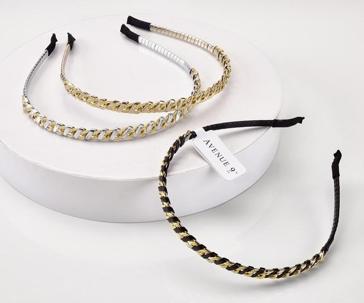 Avenue 9  Glam, Braid Design hairband, 3/Asst.