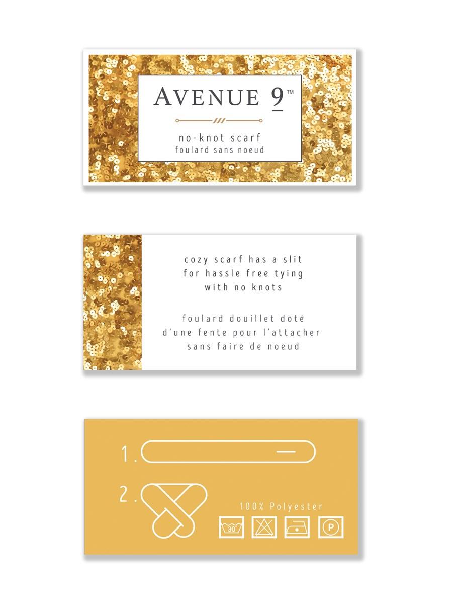 Avenue 9 Glam, Faux-Fur Scarf, 4/Asst.