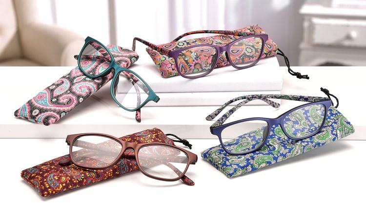 Reader Glasses w/ Pouch, 24pcs, 4/Asst. & Displayer