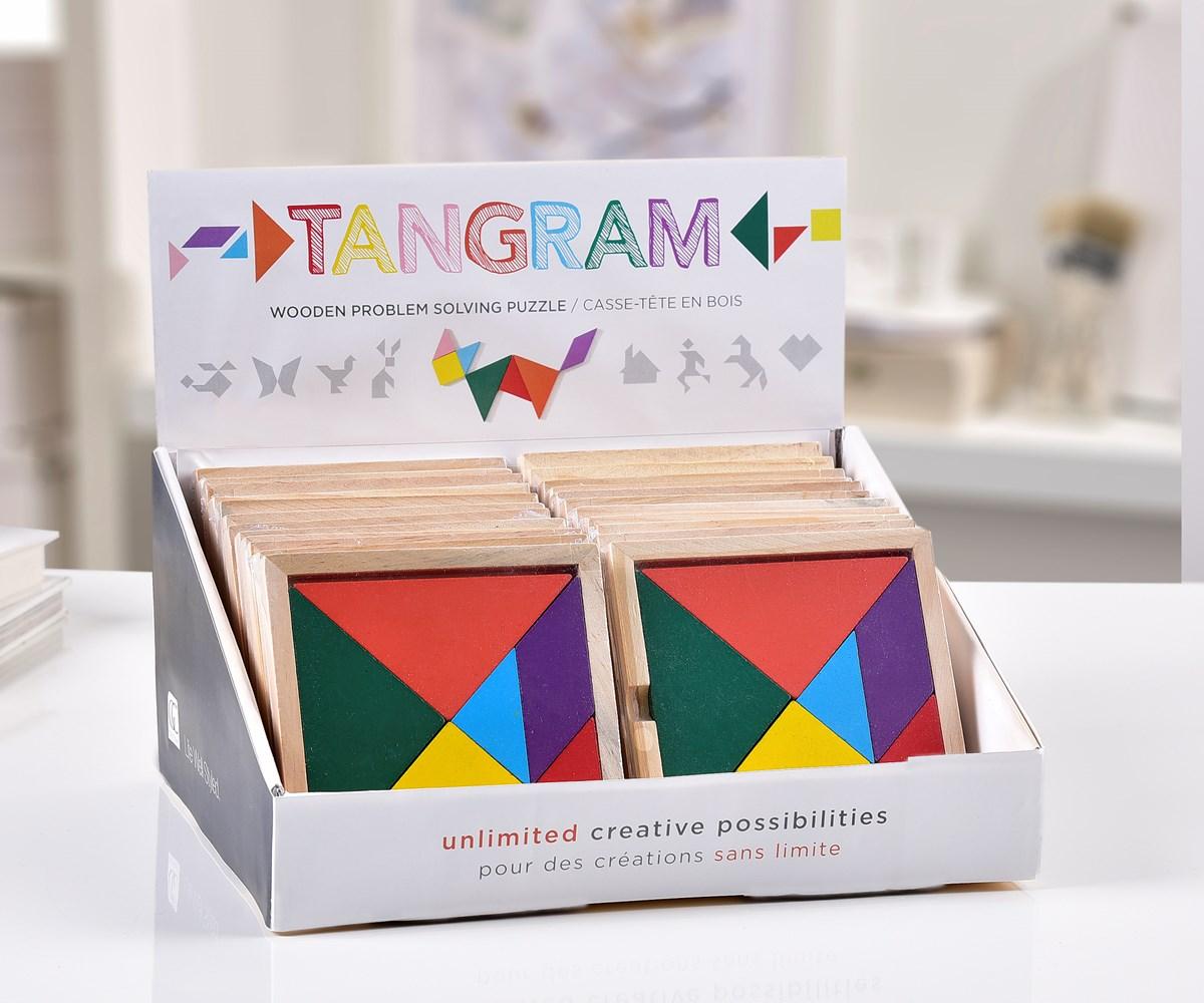 Tangram Puzzle Asst. w/ Displayer