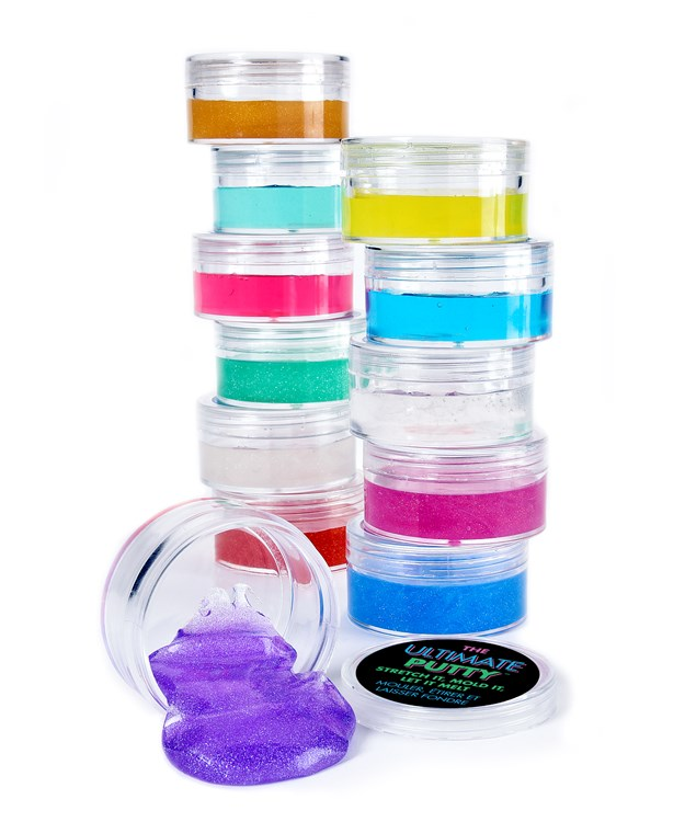 Liquid Glass Putty Asst. w/ Displayer
