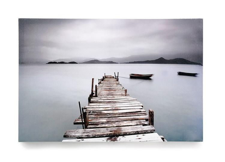 Canvas Dock and Horizon Print