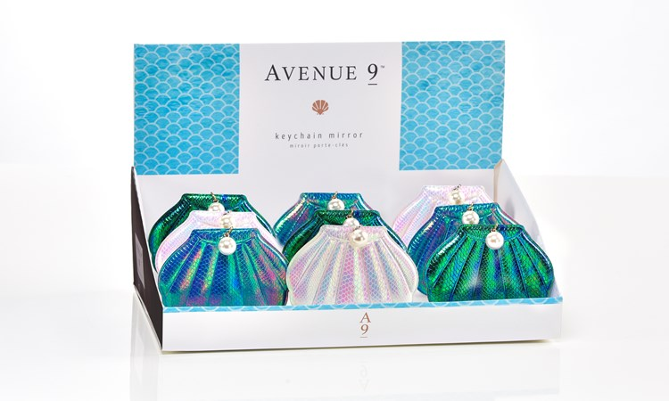 Avenue 9 Blue Lagoon, Compact Mirror Keychain Asst. w/ Displayer