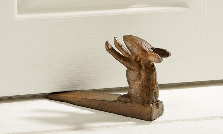 Antiqued Iron Mouse Door Stopper