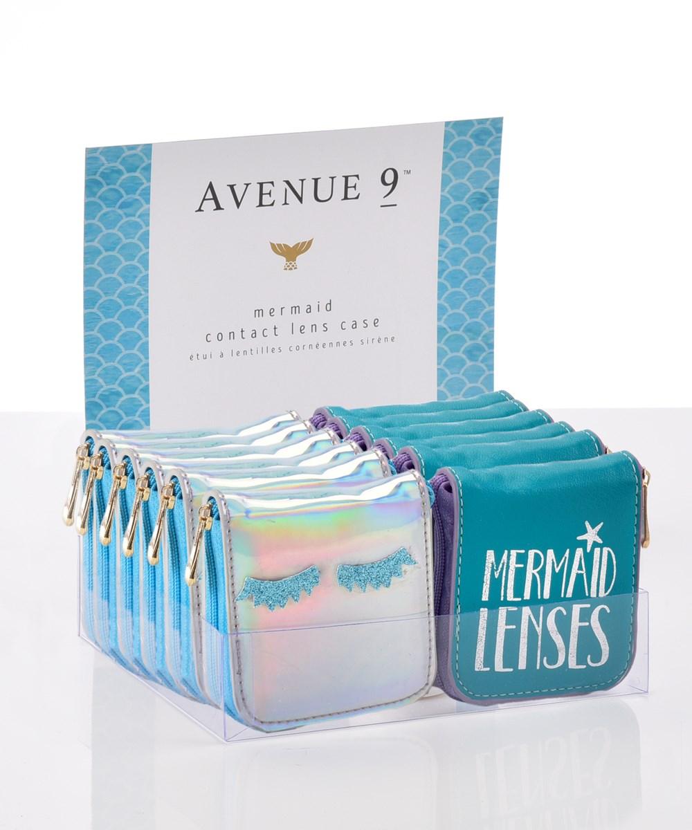 Avenue 9 Blue Lagoon, Seaside Design Contact Lens Case Asst. w/ Displayer