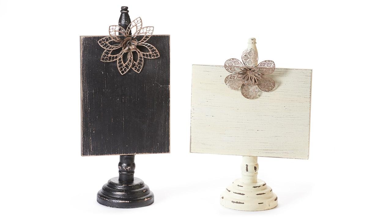 Wooden & Metal Photo Holders 2 Assorted Designs
