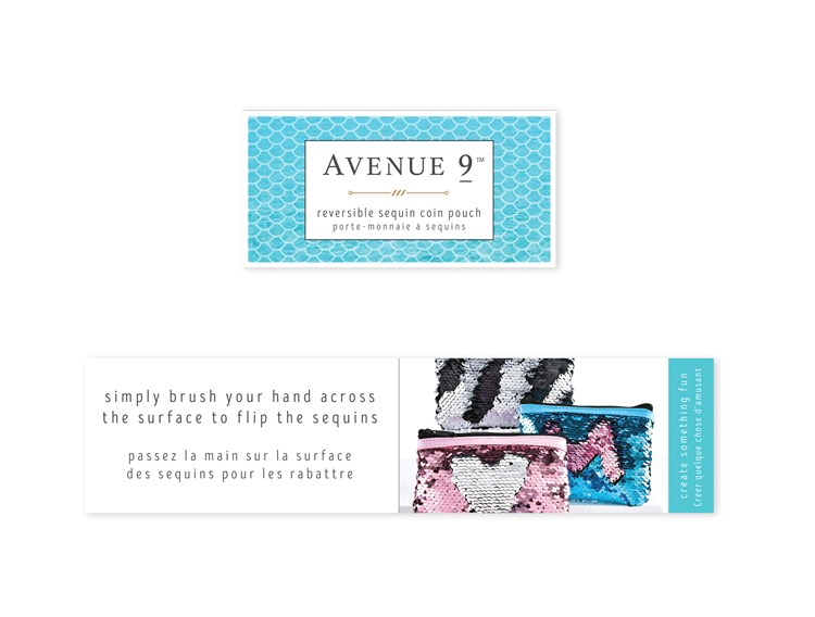 Avenue 9 Blue Lagoon, Sequin Coin Pouch, 3/Asst.