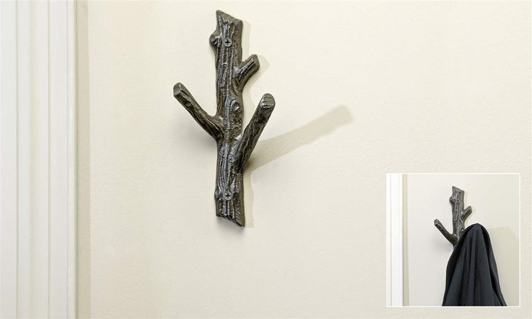 Tree Branch Cast Iron 3-Hook Wall Hook
