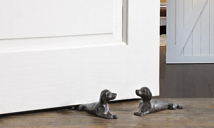 Cast Iron Dog Door Stopper 2 Assorted Designs