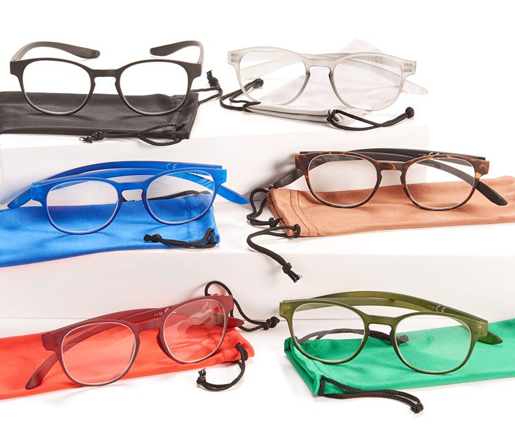 Reading Glasses w/Pouch, 36 Pieces w/Displayer