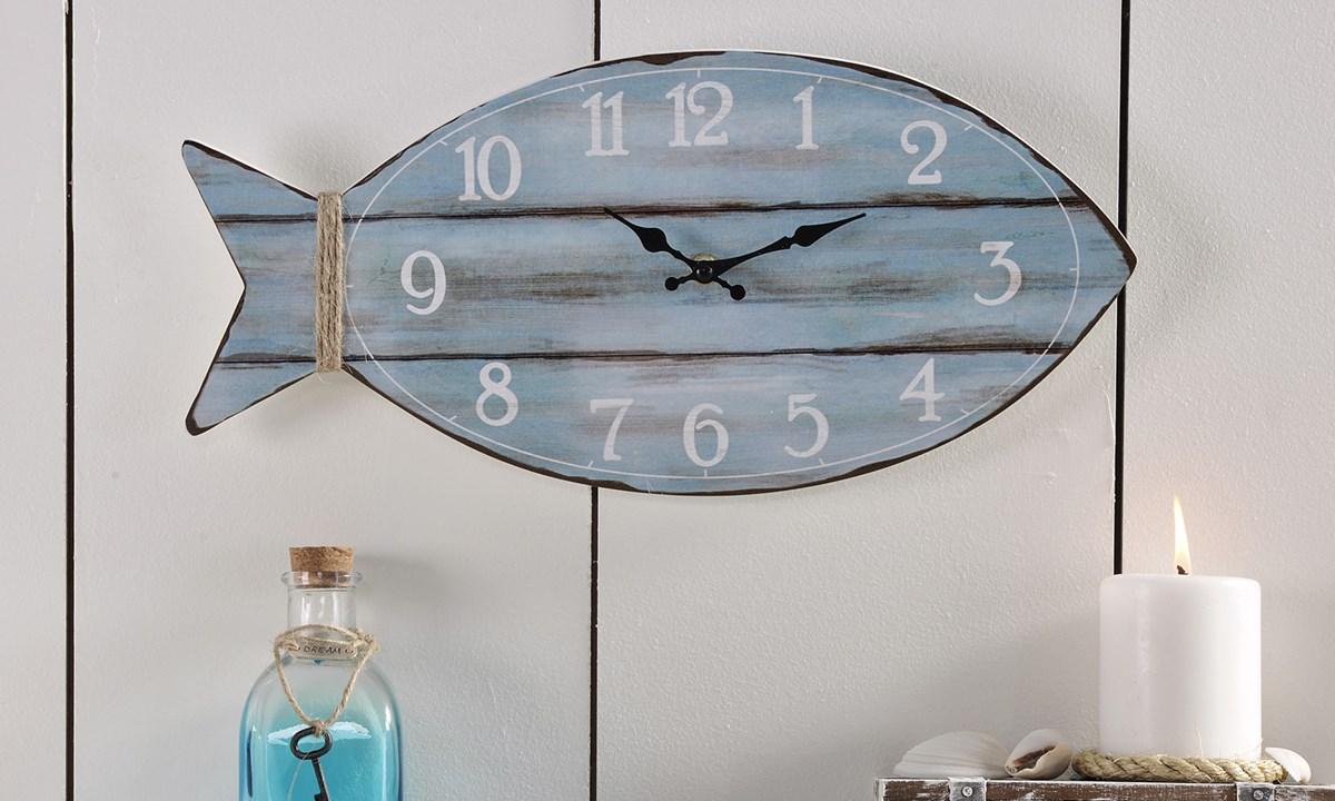 MDF Fish Design Wall Clock