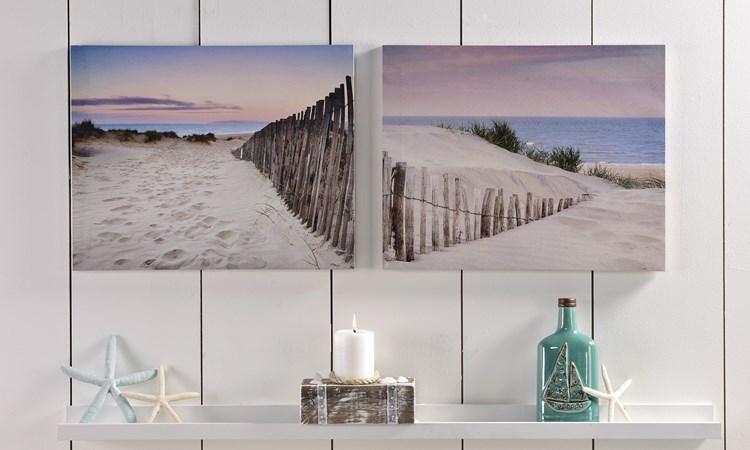 Sand Dunes Design Canvas Wall Decor, 2/Asst.