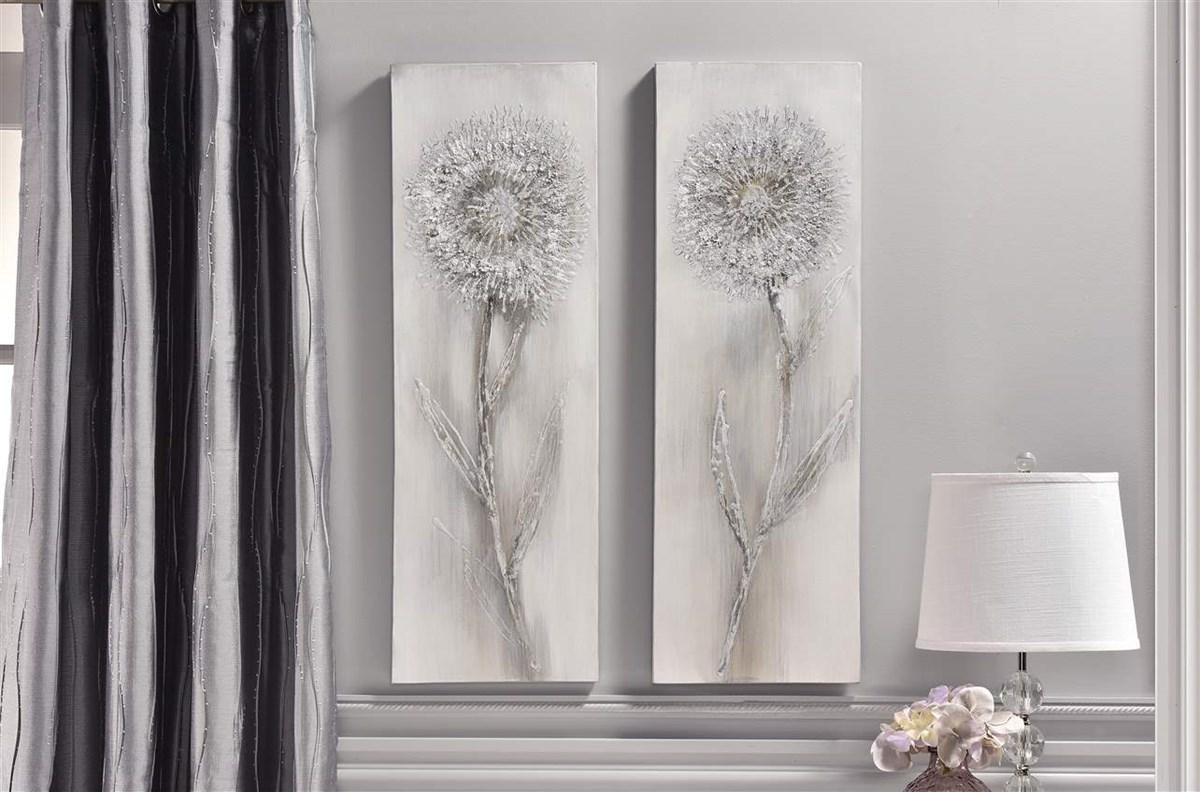 Canvas Wall Decor, Dandelion, 2/Asst.