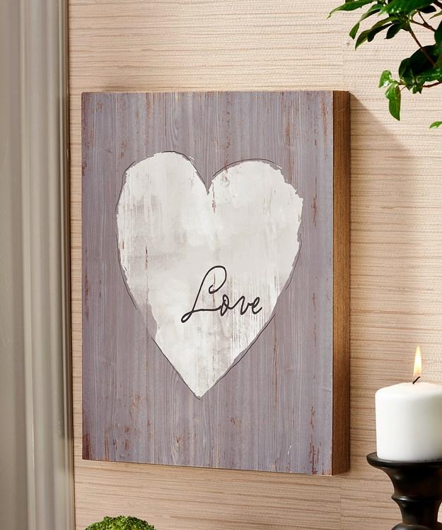 Heart Design Wall Plaque