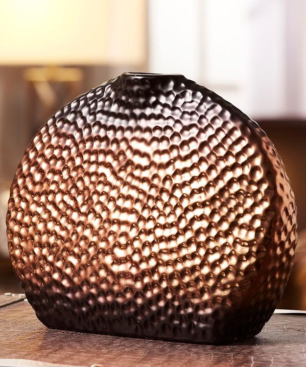 Large Brown Ceramic Vase