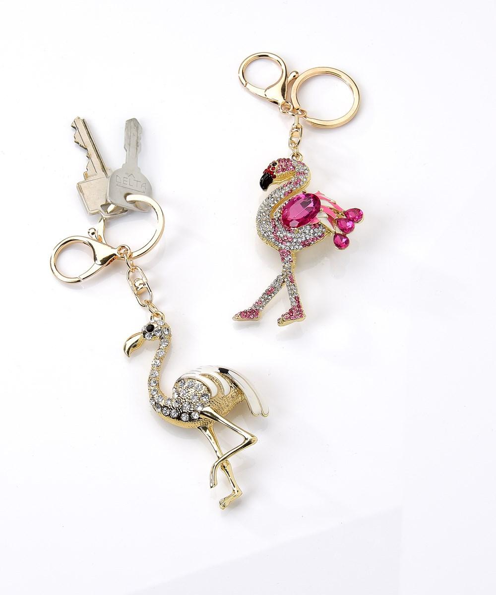Avenue 9 Tropical Vibe, Flamingo Design Keychain, 2 Asst.