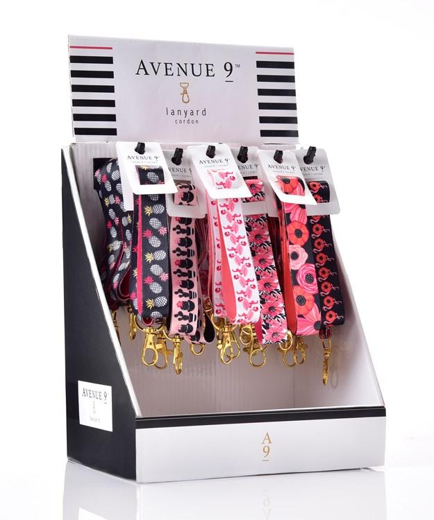 Avenue 9 Tropical Vibe, Summer Design Lanyard, 6 Asst w/Displayer