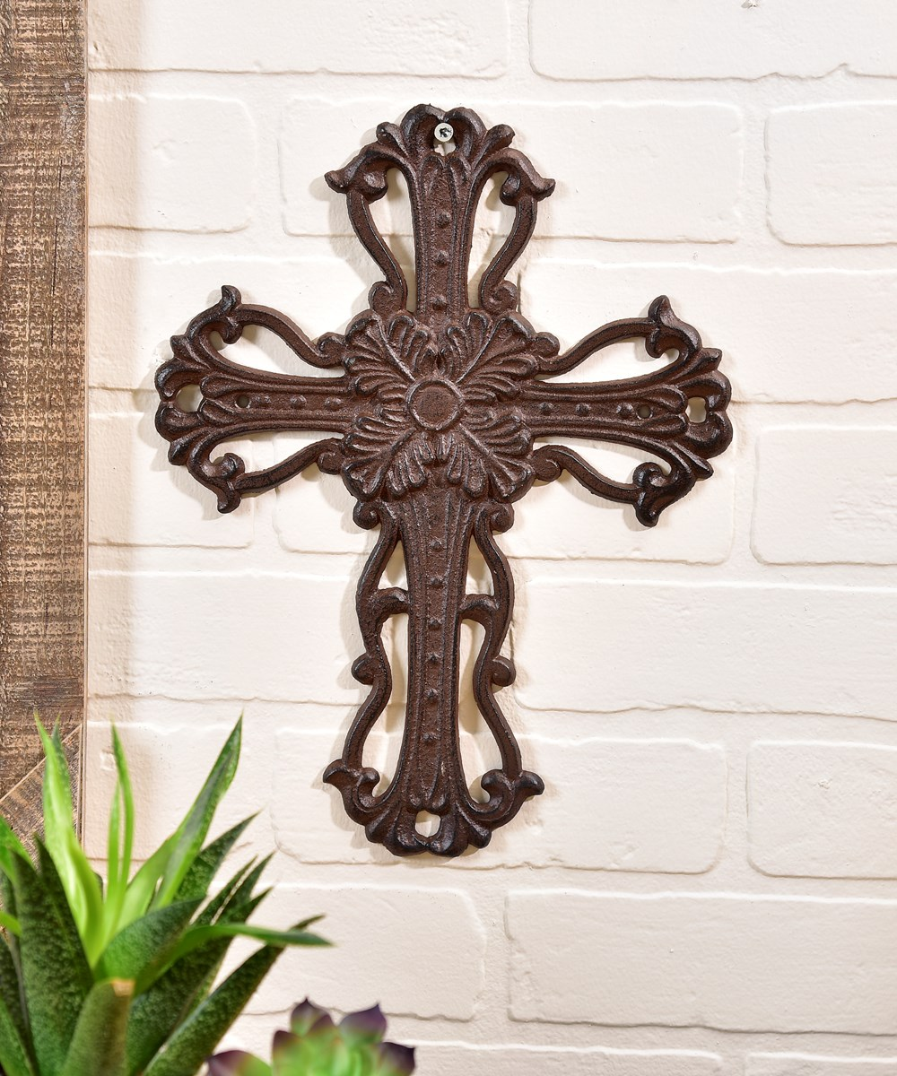 Cast Iron Wall Cross