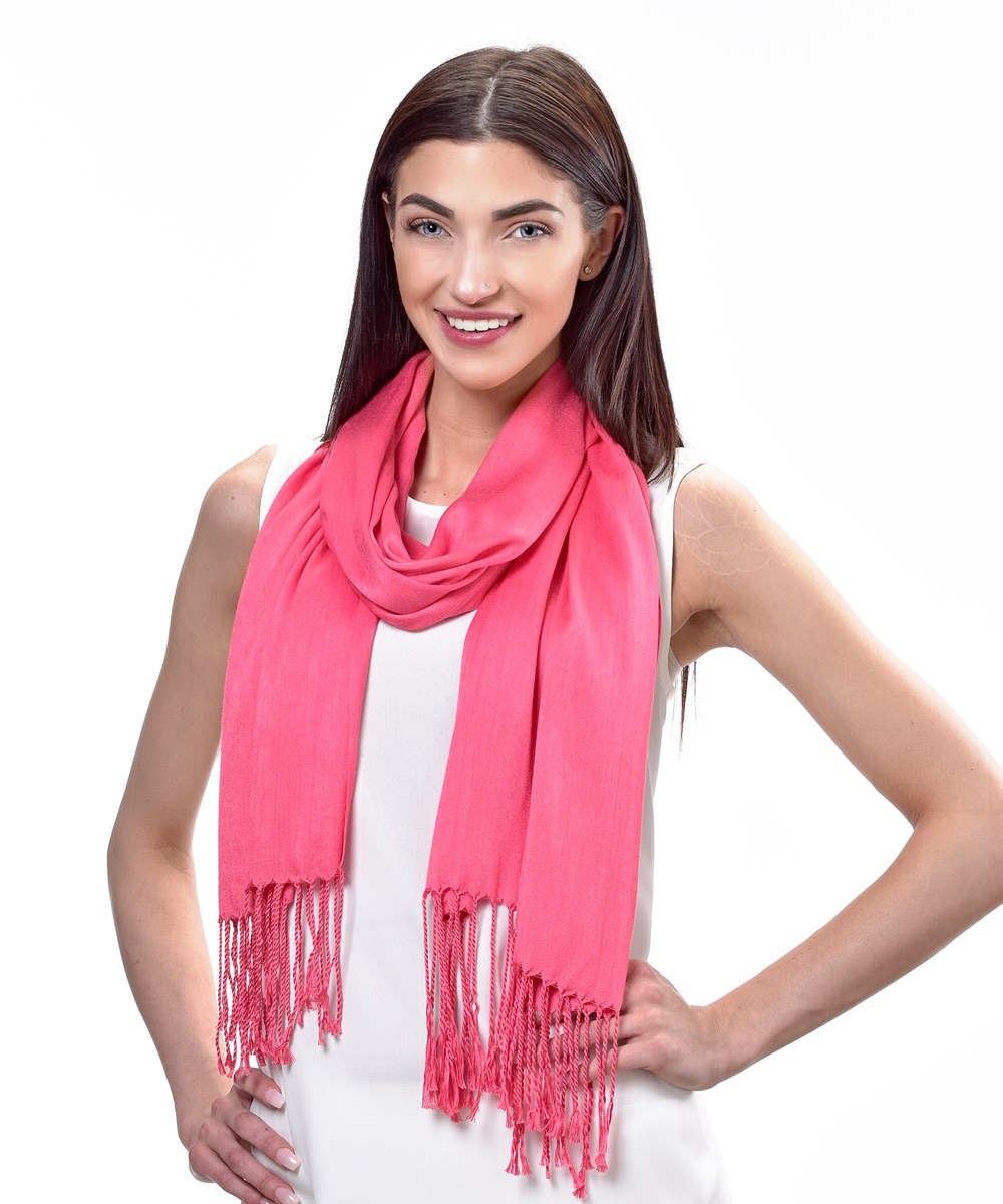 Avenue 9 Tropical Vibe, Solid Scarf w/Fringe, 3 Asst.