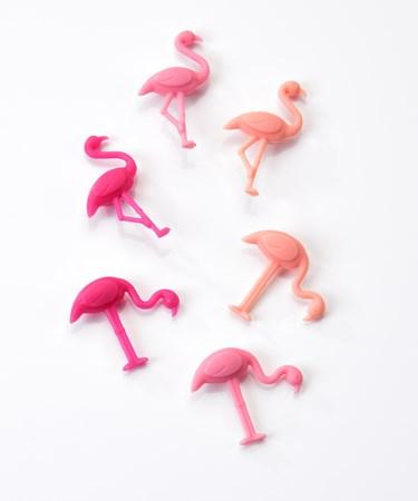 Avenue 9 Tropical Vibe, Flamingo Design Wine Marker Set/6