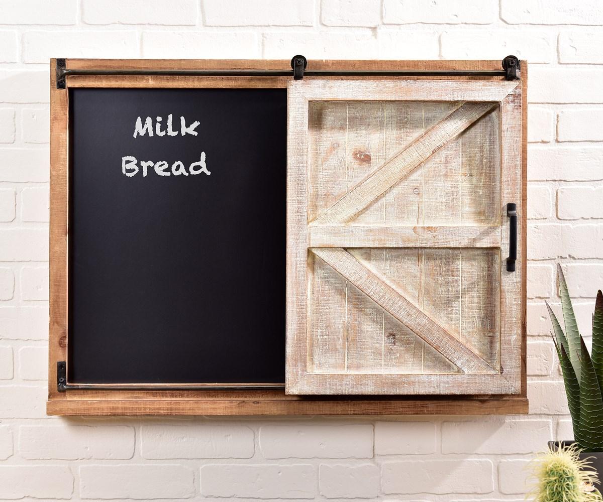 Barn Door Design Wall Chalkboard