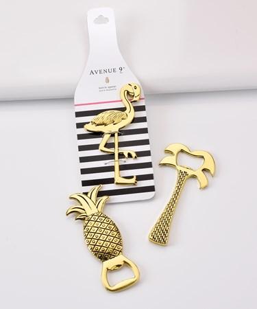 Avenue 9 Tropical Vibe, Summer Design Bottle Opener, 3 Asst.