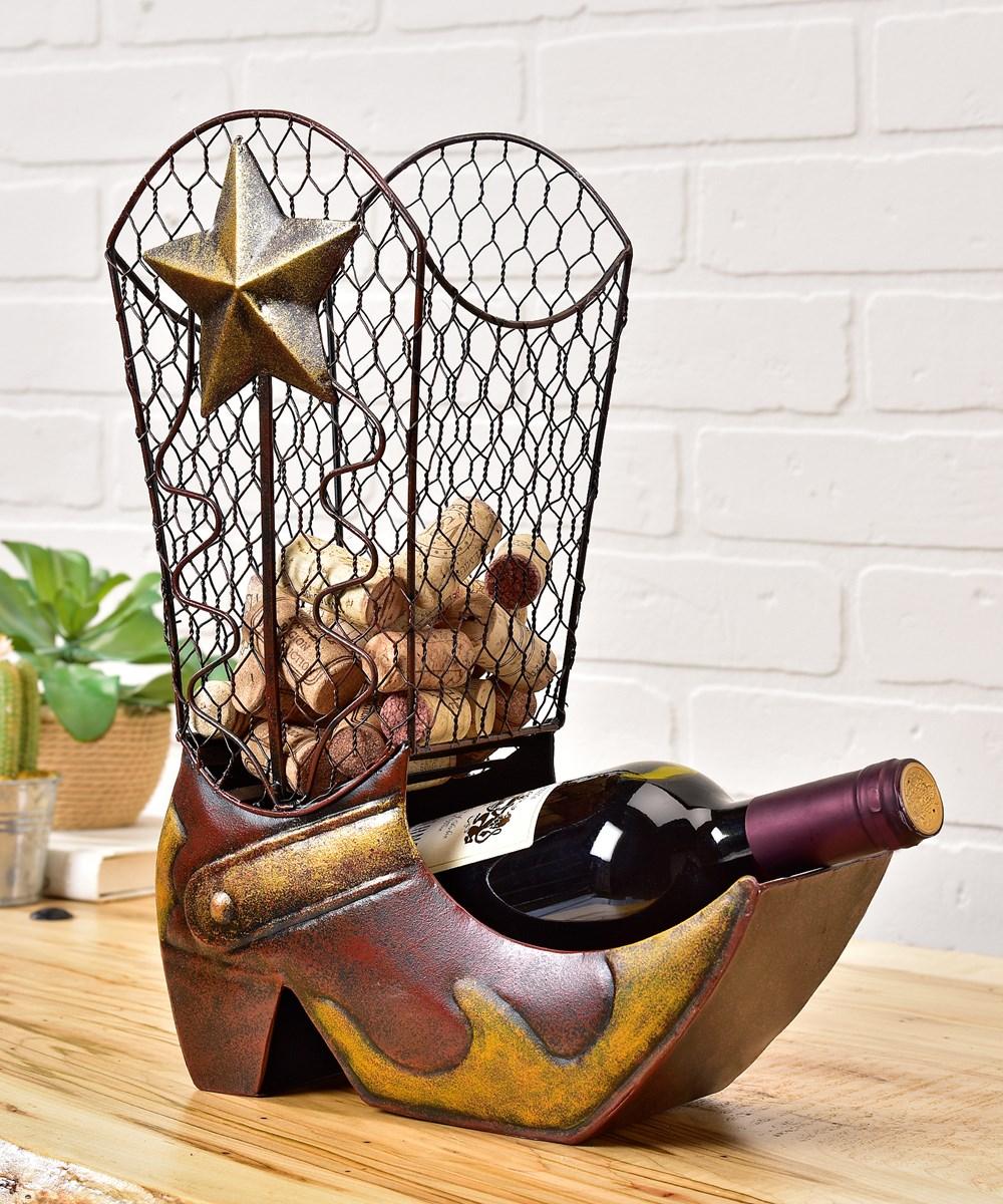 Cowboy Boot Design Wine Bottle Holder