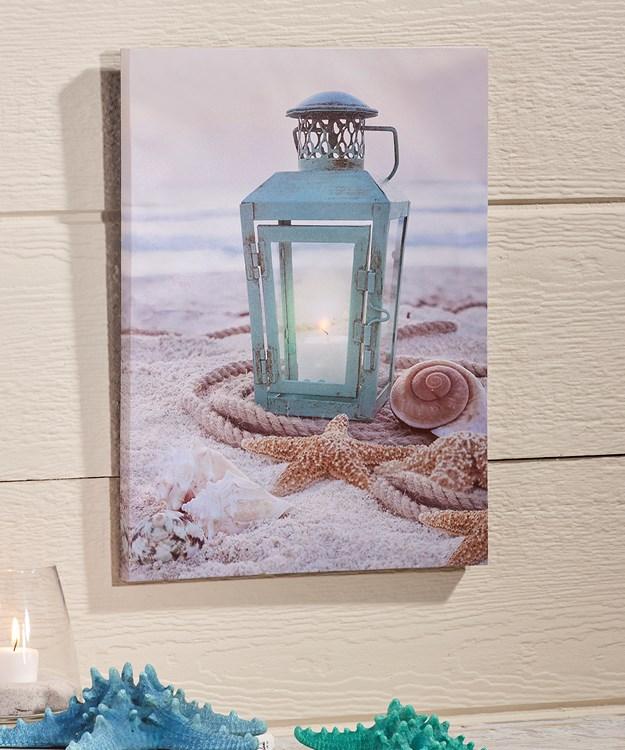Canvas Wall Print w/LED Lights - Lantern Design